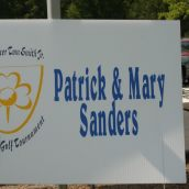 Patrick and Mary Sanders hole sponsor